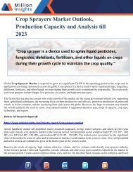Crop Sprayers Market Outlook, Production Capacity and Analysis till 2023