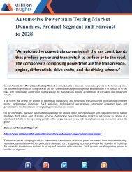 Automotive Powertrain Testing Market Dynamics, Product Segment and Forecast to 2028