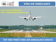 Hire Best Emergency Air Ambulance Service in Allahabad and Bhopal by King