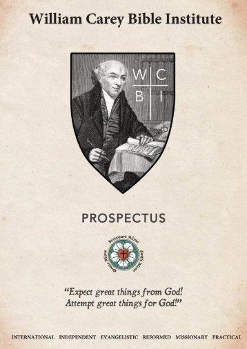 William Carey Bible Institute Prospectus