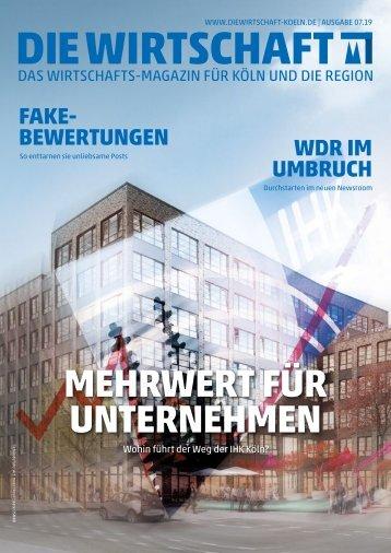 Die Wirtschaft Koeln Ausgabe 07 / 2019