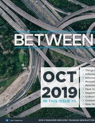 Between The Lines - October 2019