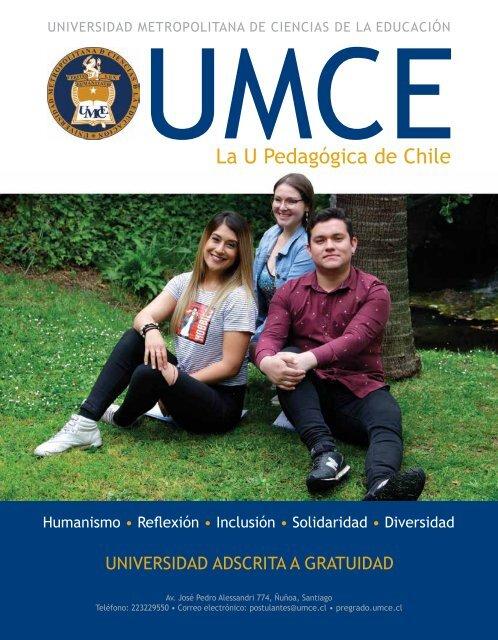 Revista Admisión Pregrado UMCE 2020