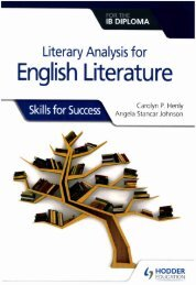 9781510467149 Literary analysis for English Literature for the IB Diploma  Skills for Success 40p