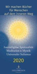 Bücher über interreligiöse Spiritualität, Meditation und Universaler Sufismus - Verlag Heilbronn 2020