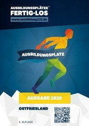 AUSBILDUNGSPLÄTZE - FERTIG - LOS | Ostfriesland 2020