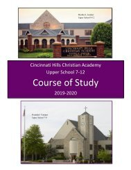 CHCA Course of Study 2019-2020