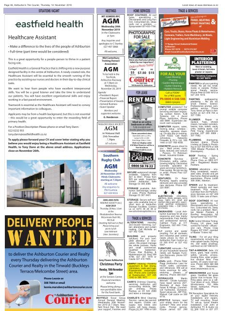Ashburton Courier: November 14, 2019