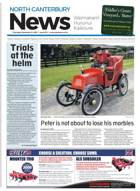 North Canterbury News: November 14, 2019