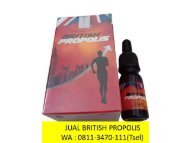 GROSIR !! TELP : 0811-3470-111 (WA), Pusat British Propolis Herbal Banyuwangi Situbondo
