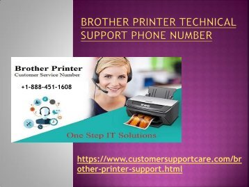 Brother Printer Tech Support Phone Number +1-888-451-1608