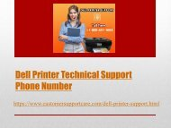 Dell Printer Tech Support Phone Number +1-888-451-1608