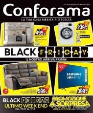 Conforama Black Friday 14 novembre-3 dicembre 2019