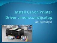 Install Canon Printer Driver canon.com/ijsetup