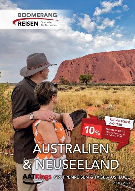 AAT Kings Gruppenreisen & Kurztouren in Australien und Neuseeland 2020/21