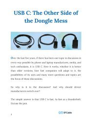 USB C: The Other Side of the Dongle Mess
