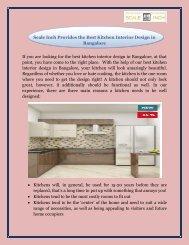 Scale Inch Provides the Best Kitchen Interior Design in Bangalore