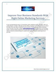 Improve Your Business Standards With Right Online Marketing Services