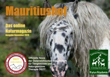 Mauritiushof Naturmagazin Ausgabe November 2019