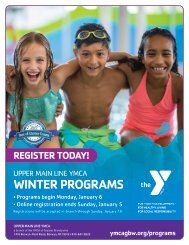 Upper Main Line YMCA - 2020 Winter Program Guide