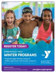 Jennersville YMCA - 2020 Winter Program Guide