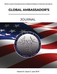 Global Ambassador's Journal Vol 3, Issue 2 June 2019