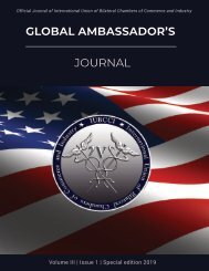 Global Ambassador's Journal Vol 3, Issue 1 Special Edition Feb 2019