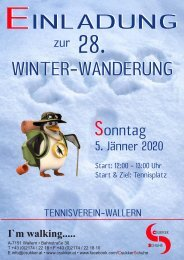 Winterwanderung 2020 TV-Wallern