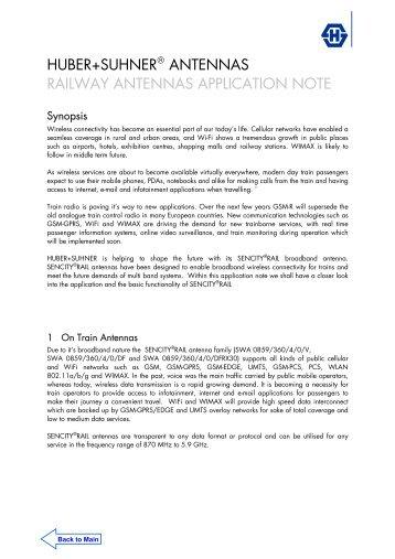 Application Note Railway Antennas - Meconet