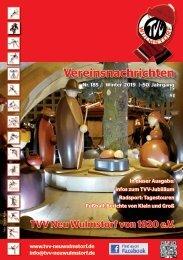 TVV Neu Wulmstorf Vereinsnachrichten Nr. 185, Winter 2019