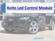 Koito 8R0 907 472 B LED Control Unit Module for Audi Q5 8R By XenonPlanet