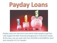 Payday Loans- Quick Support to Fix Your Instant Cash Needs