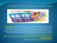 Control X Keto - An Easy Technique Eliminate Weight