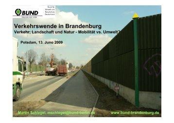 Vortrag BUND - Die Linke. Brandenburg