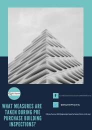 What Measures Are Taken During Pre Purchase Building Inspections?