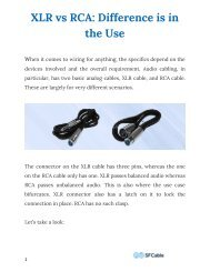 XLR vs RCA: Difference is in the Use