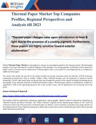 Thermal Paper Market Top Companies Profiles, Regional Perspectives and Analysis till 2023
