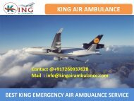 Book Air Ambulance Service in Ranchi and Gorakhpur by King-converted