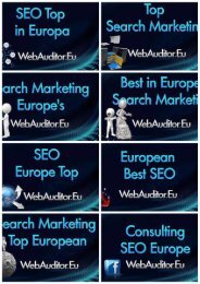 Online Marketing in Europe Top #WebAuditor.Eu for Best in Europe Online Branding Advertising European Top