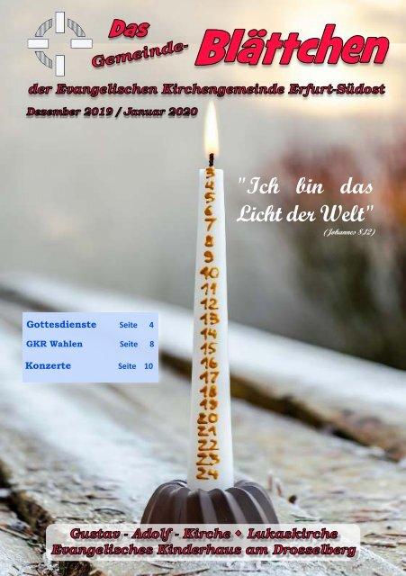 Gemeinde-Blättchen Dezember 2019 / Januar 2020