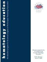 hematology education - European Hematology Association