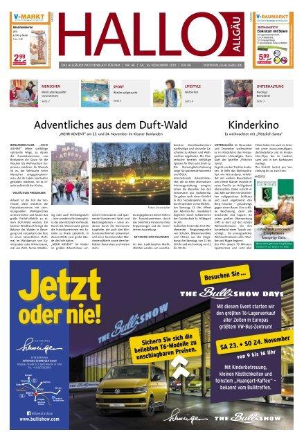 Hallo-Allgäu Memmingen vom Samstag, 16.November