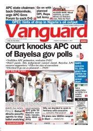 15112019 - Court knocks APC out of Bayelsa gov polls