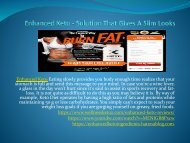 Enhanced Keto - Natural And Highly Efficient Ingredients