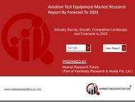 Aviation Test Equipment Market Research Global Report - Forecast till 2025