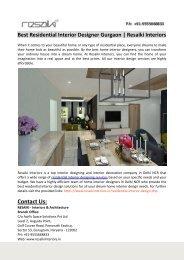 Best Residential Interior Designer Gurgaon-Resaiki Interiors