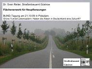 Dr. Sven Reiter, Straßenbauamt Güstrow Flächenerwerb - BUND ...
