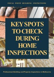 Key Spots to Check during Home Inspections