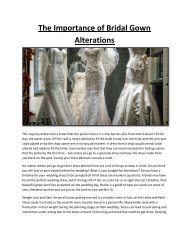 The Importance of Bridal Gown Alterations