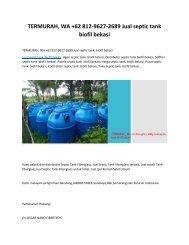 TERMURAH, WA +62 812-9627-2689 Jual septic tank  biofil bekasi